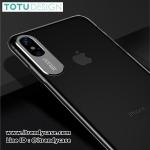 iPhone X - เคสใส Sparkling Series Lexury Aluminium Protect Camera TOTU DESIGN แท้