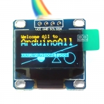"OLED LCD LED Display Module Yellow/Blue 0.96"" 128X64 for Arduino"