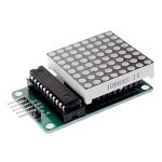 LED Matrix Driver MAX7219 IC Driver Module + LED 3mm Dot Matrix 8x8 ขนาด 30mm x 30mm พร้อมสายไฟ