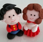 ตุ๊กตาไอซิ่งรูปเด็กผู้ชาย ผู้หญิงขนาดใหญ่ ( 9 ชิ้น )