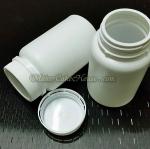 กระปุกยา อาหารเสริม สีขาวฝาเกลียว แบบล็อคกันขโมย 100 ml. ( ราคา 10 ชิ้น )