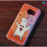 Samsung Galaxy S7 Edge - เคส TPU เงาวับ ลาย Bear Cola