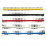 ก้างปลา 40 Pin 2.54 mm Pin Header Single Row Pin Male Header เซต 5 สี