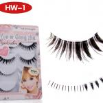 HW-1# ขนตาบน,ล่าง เอ็นใส (ขายปลีก) เเพ็คละ 5 คู่