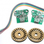 HC-020K Dual module encoder counter Optical Wheel Encoder for Smart Car พร้อมสายไฟ