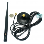 2.4G 5DBi omnidirectional antenna WIFi SMA 3m เสาอากาศ 2.4G 5DBi หัวต่อแบบ SMA ฐานแม่เหล็ก ยาว 3 เมตร
