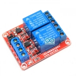บอร์ด Relay 2 ช่อง 5V relay 5v แบบ Active High/Low 10A 250V สำหรับ Arduino และ Microcontroller
