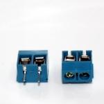 Screw Terminal Block 2 pin Connector 5mm Pitch คอนเน็คเตอร์แบบสกรูหมุน 2 ขา สีน้ำเงิน ระยะห่างระหว่างขา 5 มม. จำaวน 2 ชิ้น