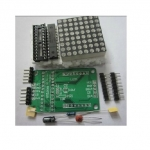 LED Matrix Driver Module + LED Dot Matrix 8x8 ขนาด 40mm x 40mm DIY