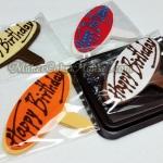กัมเพสรูปป้าย Happy Birthday ( 4 ชิ้น )