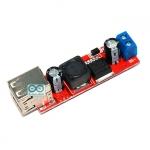 Dual USB output 9V-36V to 5VDC 3A โมดูล Step down 9-36V เป็น 5V แบบ 2 Port USB กระแสสูงสุด 3A