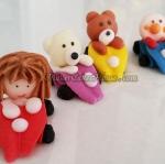 ตุ๊กตาไอซิ่งรูปตัวการ์ตูนขับรถ ( 20 ชิ้น )