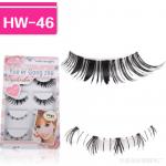 HW-46 ขนตาบน,ล่าง เอ็นใส (ขายปลีก) เเพ็คละ 5 คู่