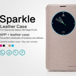 Samsung Galaxy S6 Edge Plus - เคสฝาพับ Nillkin Sparkle leather case แท้