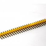 ก้างปลา 40 ขา สีเหลือง 2.54mm Yellow Single Row Male 1X40 Copper Pin Header Strip