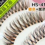 HS-41 ขนตาเอ็นใส (ขายปลีก) สีส้ม+ดำ เเพ็คละ 10 คู่ ขายยกเเพ็ค