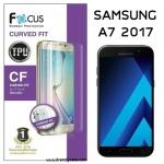 Samsung A5 2017 (เต็มจอ) - ฟิล์มเต็มจอลงโค้ง Focus (CURVED FIT TPU) แท้