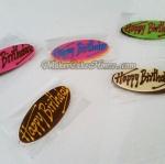 กัมเพสแผ่น Happy Birthday ( 5 ชิ้น )