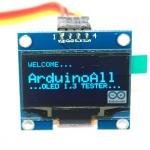 """จอแสดงผล OLED 128x64 แบบ I2C ขนาด 1.3"""" สีน้ำเงิน OLED Display I2C Module Blue 1.3"""" for Arduino"""