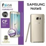 Samsung Galaxy Note5 (เต็มจอ) - ฟิล์มเต็มจอลงโค้ง Focus (CURVED FIT TPU) แท้