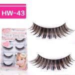 HW-43# ขนตาปลอมดำ+สีน้ำตาล(ขายปลีก)เเพ็คละ 5 คู่