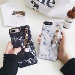 iPhone 7 Plus - เคสลายหินอ่อน พร้อมตัวห้อย