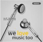 หูฟัง Remax 305M Metal Music EarPhone (Earbud เสียงดีมาก) แท้