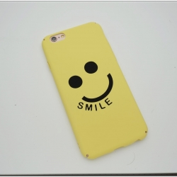 iPhone 6, 6s - เคสปิดขอบ ลายหน้ายิ้ม SMILE