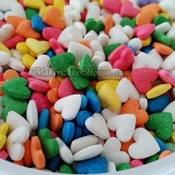 น้ำตาลไอซิ่งรูปหัวใจคละสี