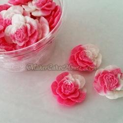 น้ำตาลไอซิ่งรูปดอกกุหลาบ ( 15 ชิ้น )