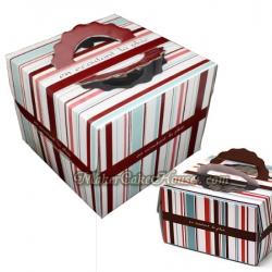 กล่องใส่เค้กสีสันน่ารัก ขนาด 2 ปอนด์