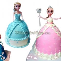 ตุ๊กตา Frozen แต่งหน้าเค้ก