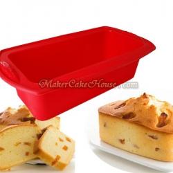 พิมพ์ซิลิโคนขนมปัง พิมพ์เค้กสี่เหลี่ยมก้นเรียบ