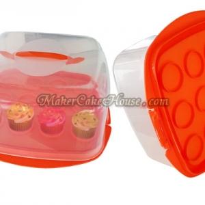 กล่องใส่เค้ก หรือคัพเค้ก แบบสี่เหลี่ยม