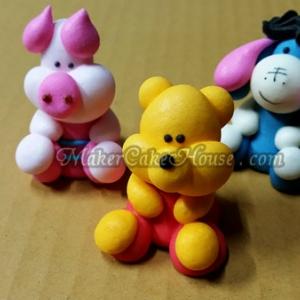 ตุ๊กตาไอซิ่งรูปหมีพูห์ พิกเลต และอียอร์ ( 9 ชิ้น )