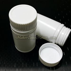 กระปุกยา อาหารเสริม สีขาวฝาเกลียว 100 ml. ( ราคา 10 ชิ้น )