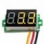 """ดิจิตอล โวลต์มิเตอร์ 0 ถึง100 โวลต์ จอขนาด 0.36"""" สีเหลือง Mini 3 Digital 0.36'' LED DC 0 ถึง 100 V YELLOW Volt Voltage Meter Voltmeter 3-24V Power Supply thumbnail 1"""
