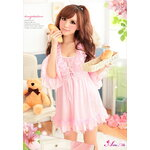 SC087-Satin Beauty Wrap เสื้อคลุมชุดนอน ผ้ามันสีชมพูแบบน่ารักมากค่ะ