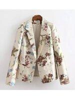 [พร้อมส่ง] STW0061 เสื้อสูทเบลเซอร์ลายดอกไม้