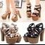 รองเท้าส้นสูง ไซต์ 34-38 สีดำ/แชมเปน thumbnail 1