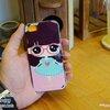 iPhone 5, 5S, SE - เคส Face Idea ลายหญิงแว่นชมพู