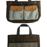 MiniPocket Bag in Bag กระเป๋าจัดระเบียบถอดออกได้ สีกาแฟ **พร้อมส่ง**