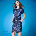 M5805200 / S M L XL 2XL / 2015 Hiend Design Fashion dress พรีออเดอร์เดรสแฟชั่นงานเกรดยุโรป สวยดูดีมีสไตล์ นางแบบใส่ชุดจริง เป๊ะเว่อร์!