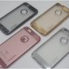 iPhone 6, 6s - เคสยาง TPU หลังใส ขอบสี motomo