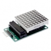 LED Matrix Driver MAX7219 IC Driver Module + LED Dot Matrix 8x8 ขนาด 40mm x 40mm พร้อมสายไฟ