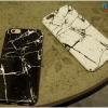 iPhone 6, 6s - เคสแข็งปิดขอบ ลายหินอ่อน (สีขาว,สีดำ)