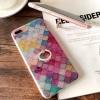 iPhone 7 Plus - เคสฟรุ้งฟริ้ง ลายรังผึ้ง พร้อมแหวนด้านหลัง