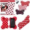 Minnie Big Ribbon TPU บิดได้งอได้ สีแดง - iPhone5, 5s