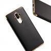 Huawei Mate9 - เคส TPU Hybrid ขอบทอง ลายหนัง