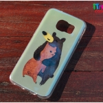 Samsung Galaxy S7 Edge - เคส TPU เงาวับ ลาย Bear Lovely